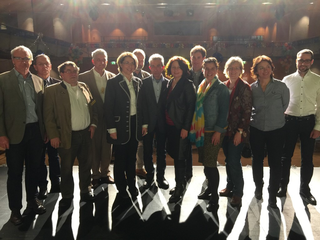 Landtagsabgeordnete Gisela Sengl beim Starnberger Imkertreffen 2016
