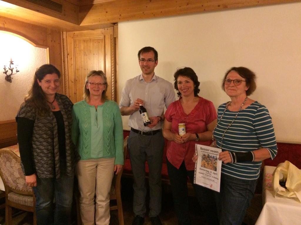 Gisela Sengl, MdL (2.v.r.) mit Vertretern der GEW in Peiting