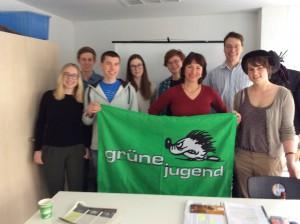 Gisela Sengl, MdL, zu Gast beim LAK Ökologie der Grünen Jugend Bayern am 21.2.2015 in Ulm