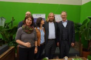 Gisela Sengl, Friedrich von Ostendorff, Sigi Hagl, Dr. Anton Hofreiter (alle B09/ Die Grünen) und Felix Prinz zu Löwenstein (BÖLW)