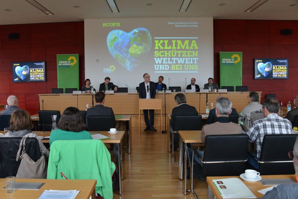 Grüne Klimakonferenz im Bayerischen Landtag am 14. November 2015