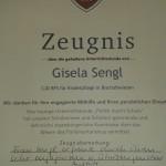 """Zeugnis zum """"Tag der freien Schulen"""" von der Berufsschule für Kinderpflege in Bischofswiesen für MdL Gisela Sengl"""
